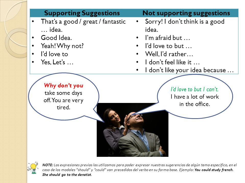 Supporting Suggestions Not supporting suggestions