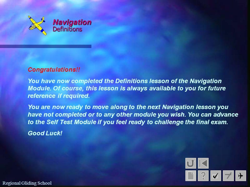 Navigation Definitions Congratulations!!