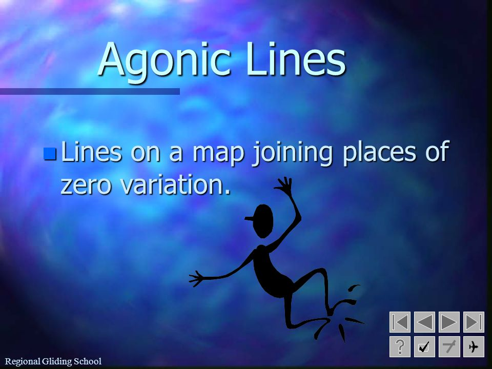 Agonic Lines Lines on a map joining places of zero variation.