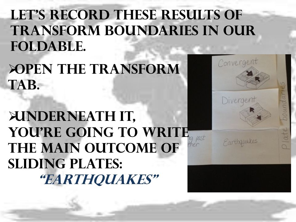 Let's record these results of transform boundaries in our foldable.