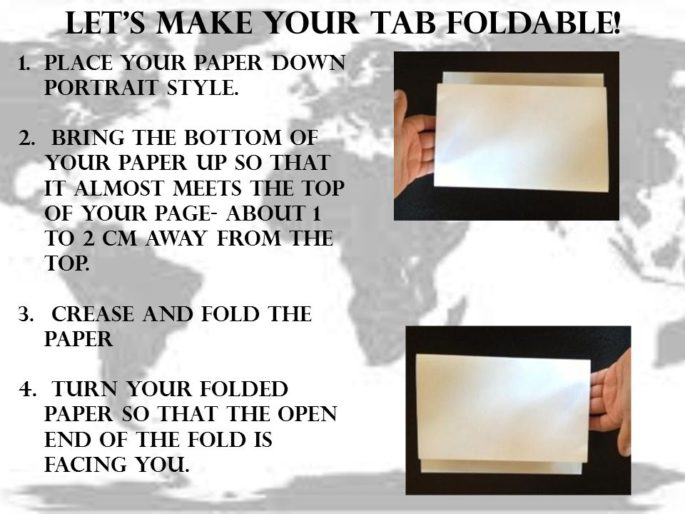 Let's make your tab foldable!
