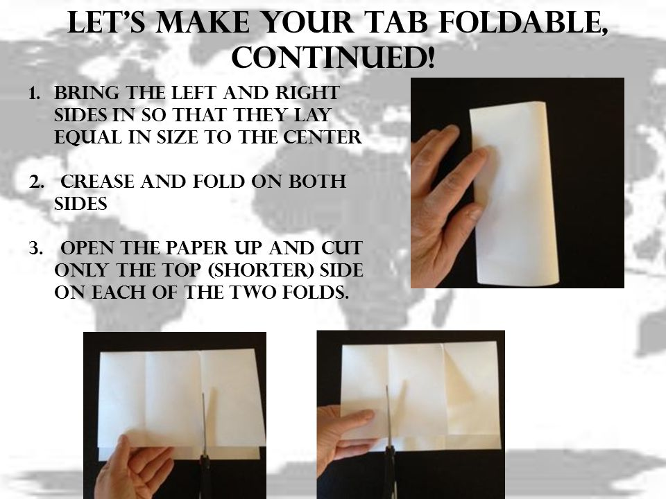 Let's make your tab foldable, continued!