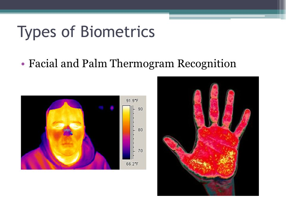 Types of Biometrics Facial and Palm Thermogram Recognition