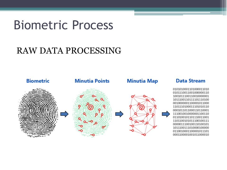 Biometric Process RAW DATA PROCESSING