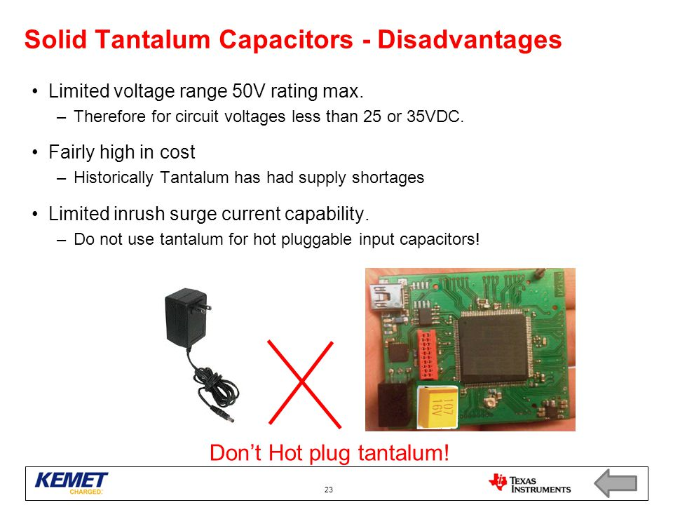Solid Tantalum Capacitors - Disadvantages