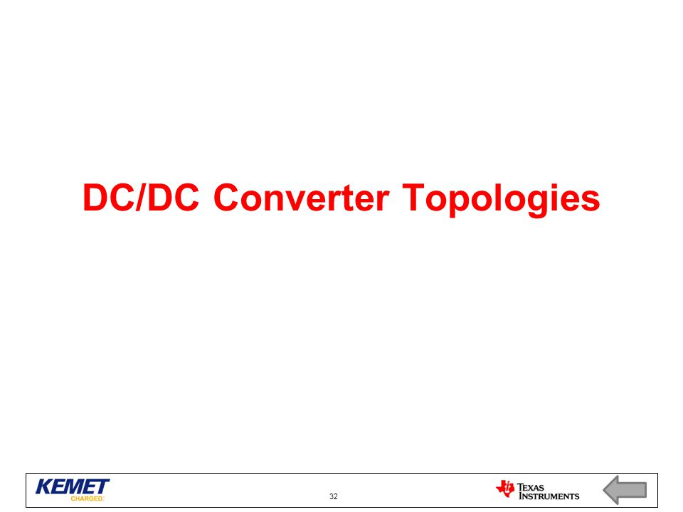 DC/DC Converter Topologies