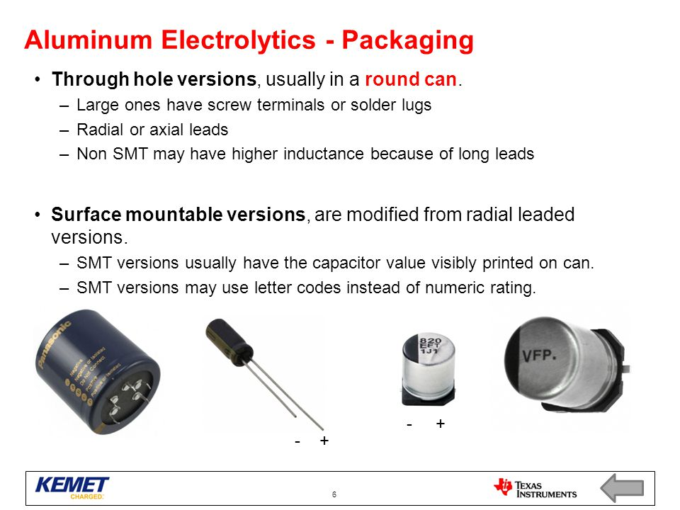 Aluminum Electrolytics - Packaging