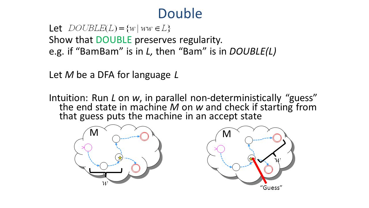 Double Let Show that DOUBLE preserves regularity.