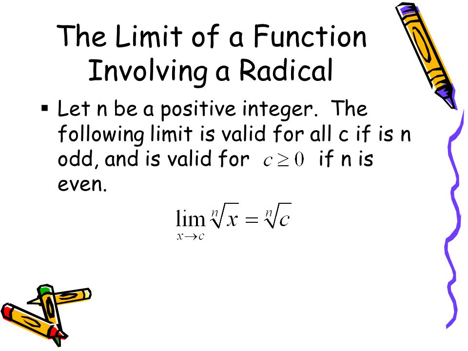 The Limit of a Function Involving a Radical