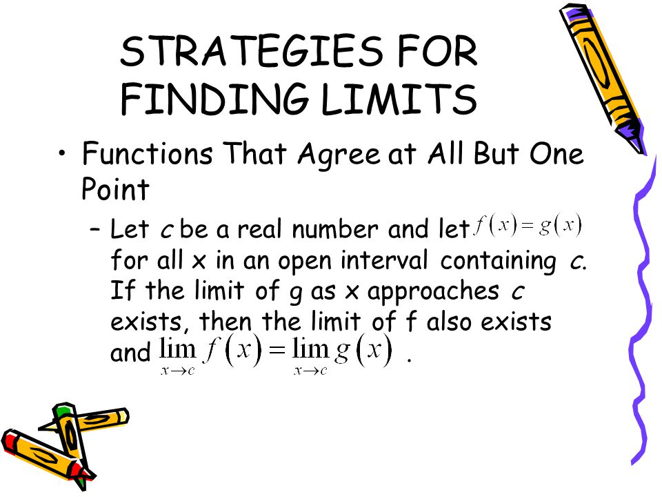 STRATEGIES FOR FINDING LIMITS