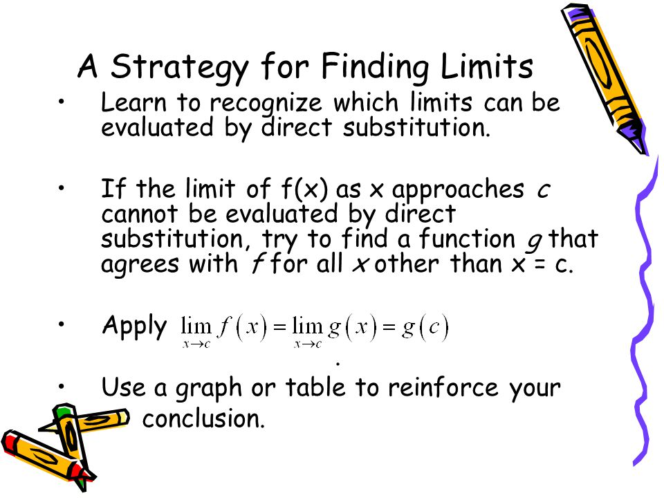 A Strategy for Finding Limits