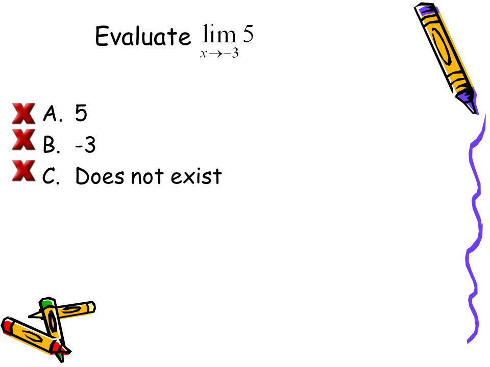Evaluate 5 -3 Does not exist