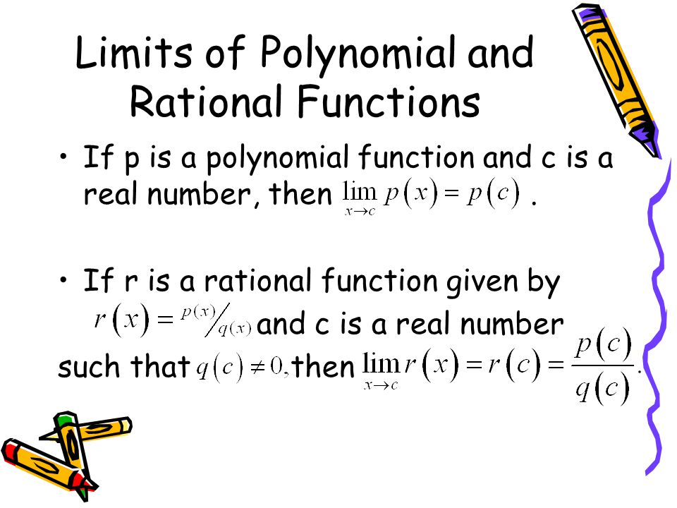 Limits of Polynomial and Rational Functions