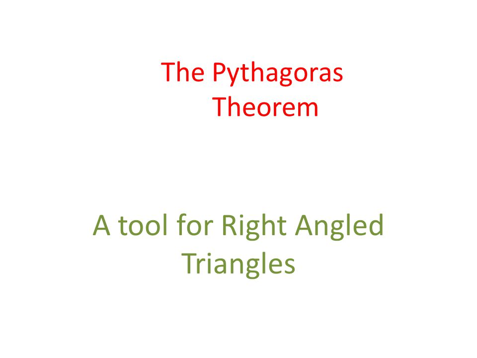 The Pythagoras Theorem