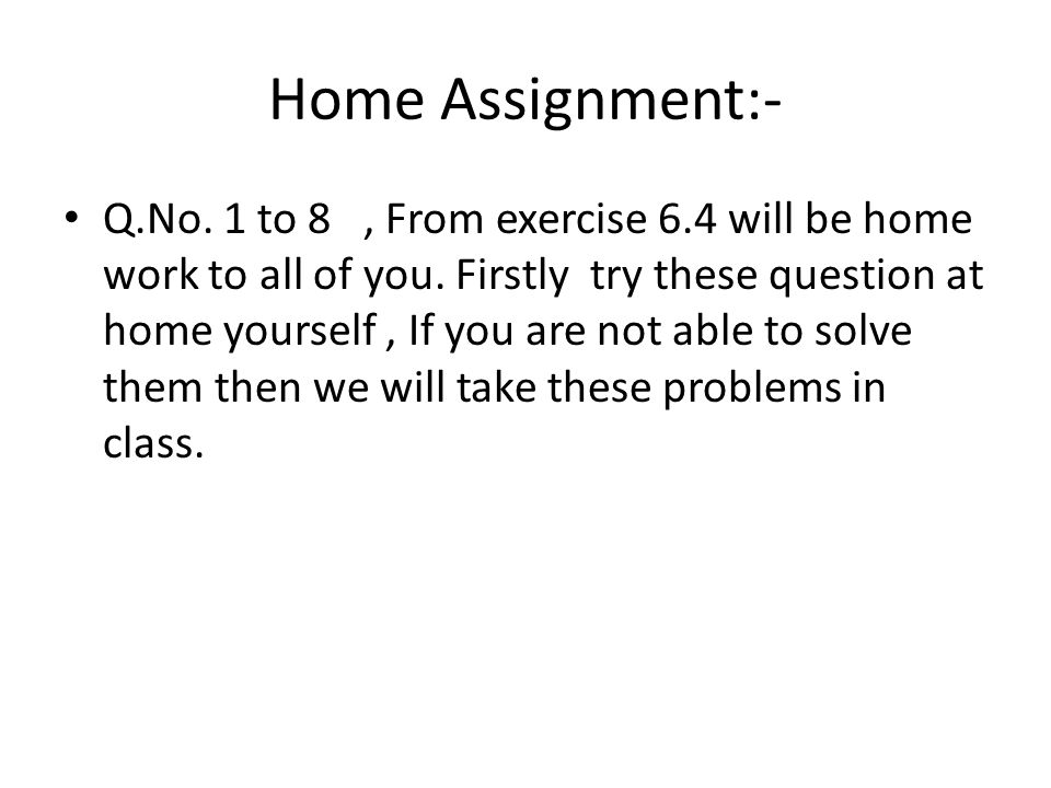 Home Assignment:-