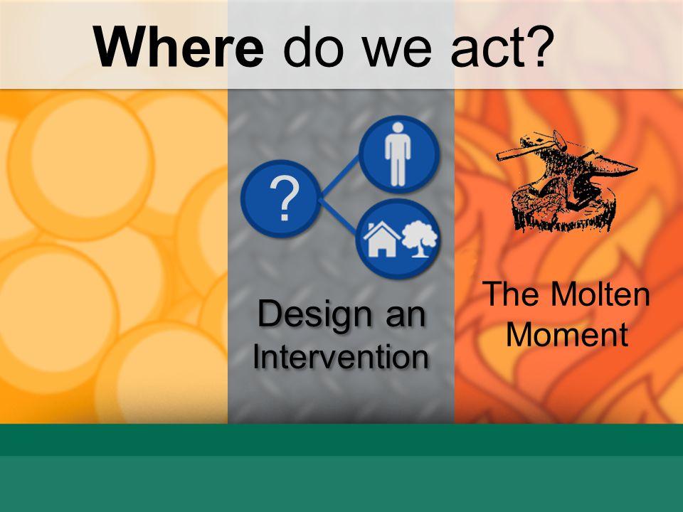Where do we act The Molten Moment Design an Intervention