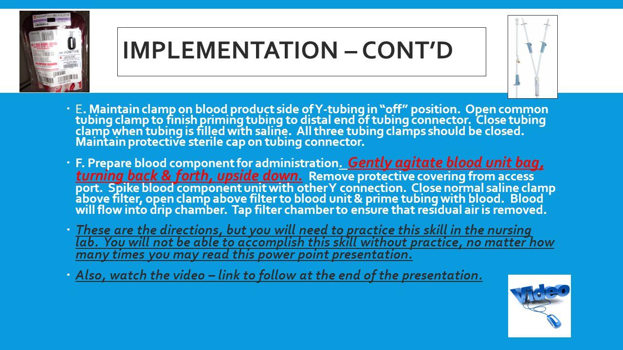 Implementation – cont'd
