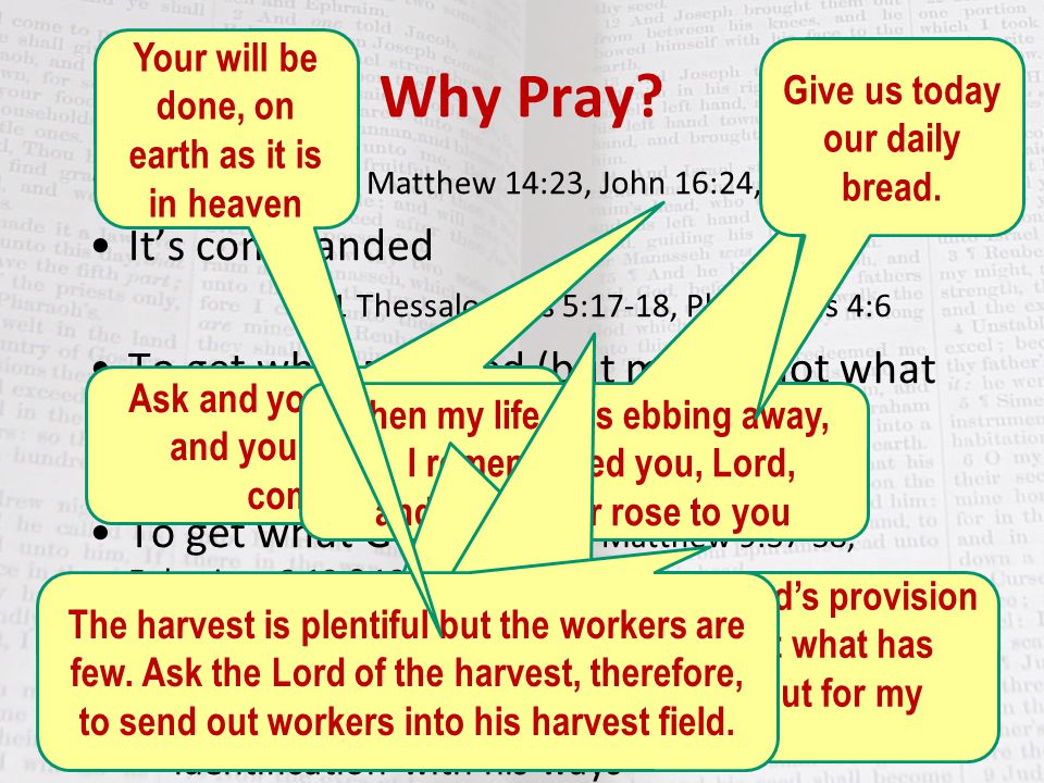 Why Pray To survive – Matthew 14:23, John 16:24, Jonah 2:7