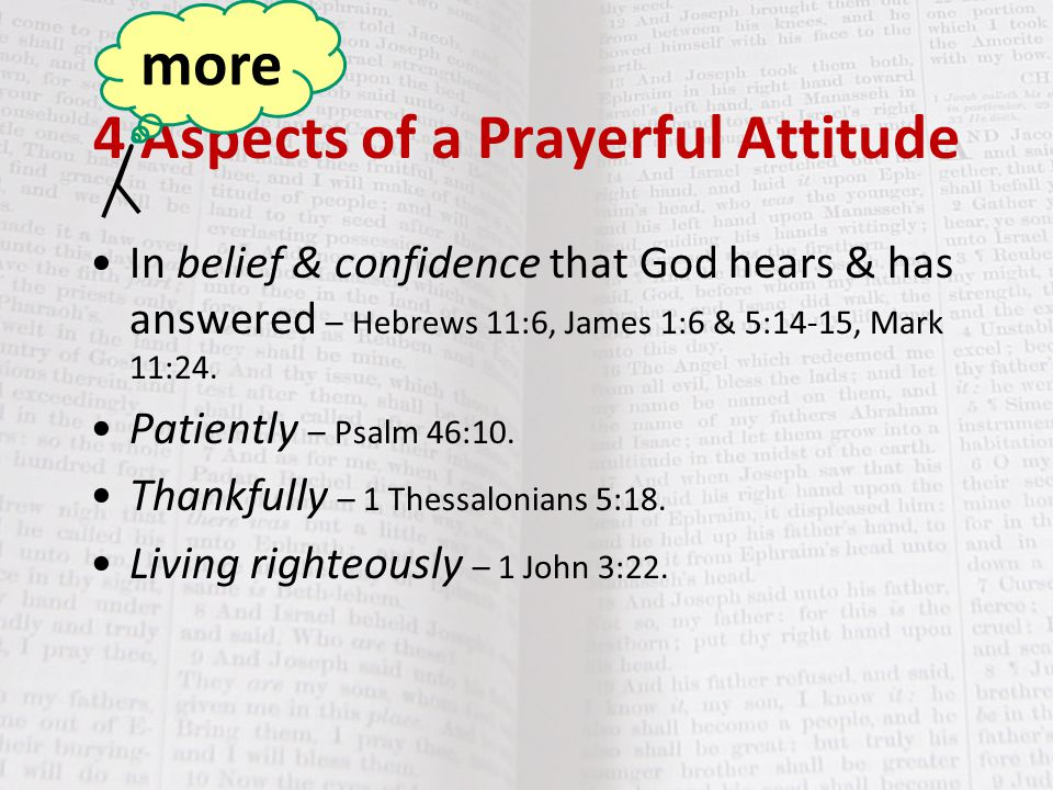 4 Aspects of a Prayerful Attitude