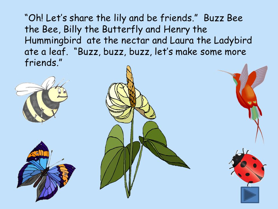 Oh. Let's share the lily and be friends