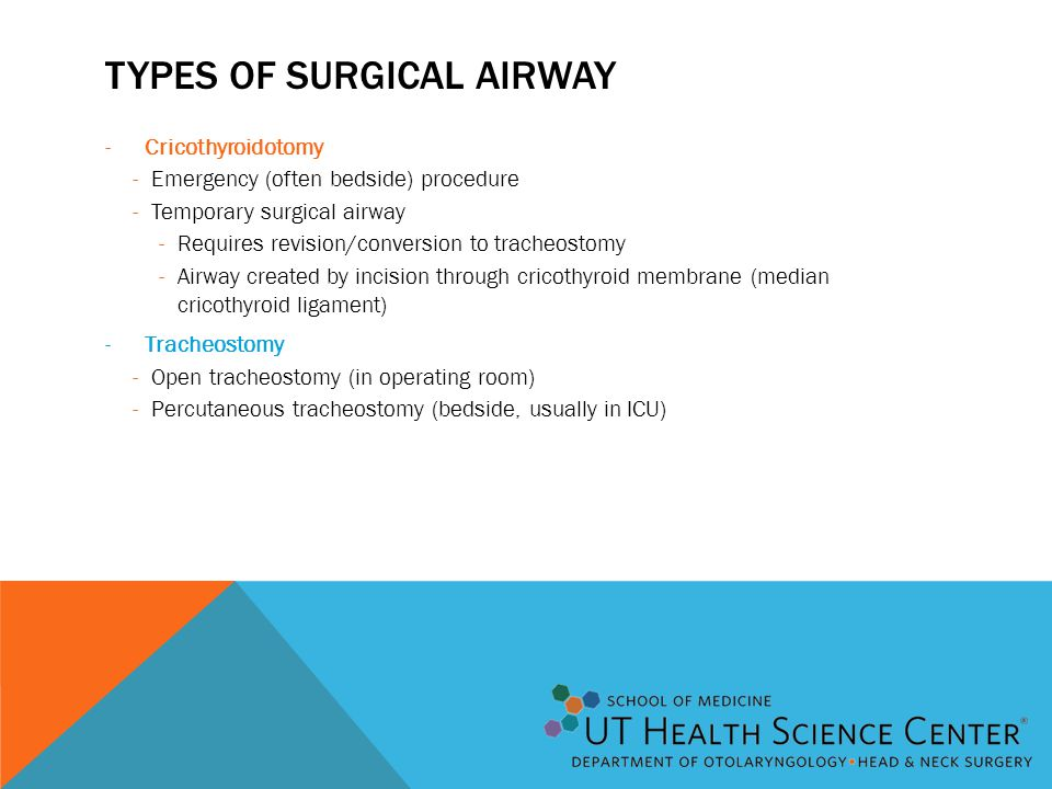 Types of Surgical Airway