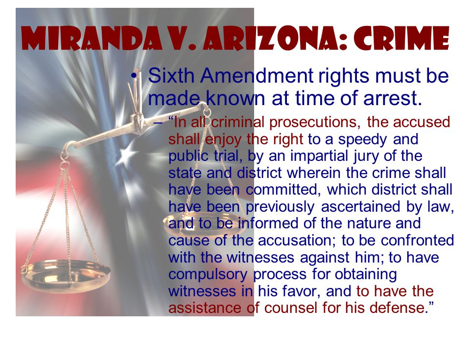 Miranda v. Arizona: Crime