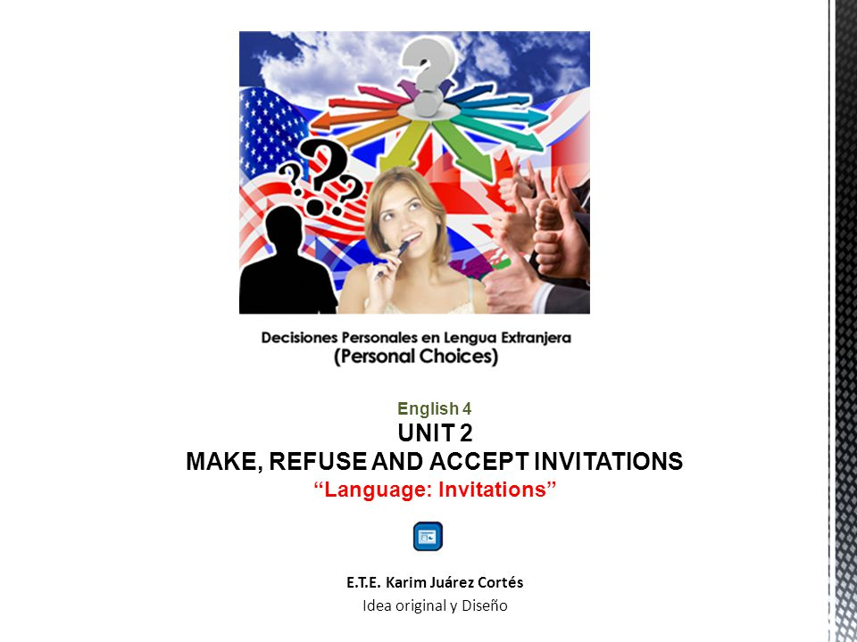 Language: Invitations