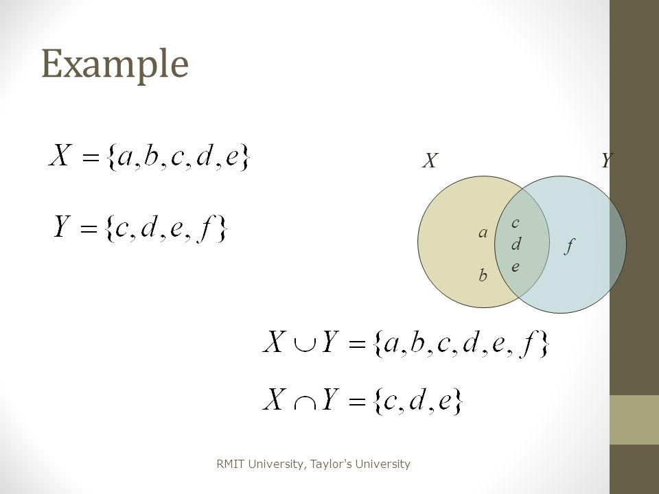Example X Y a b f c d e