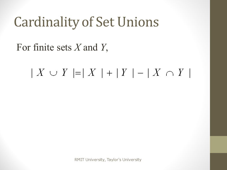 Cardinality of Set Unions