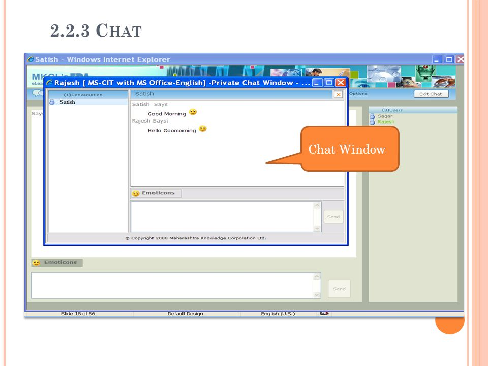 2.2.3 Chat 2.2.3 Chat Chat Window