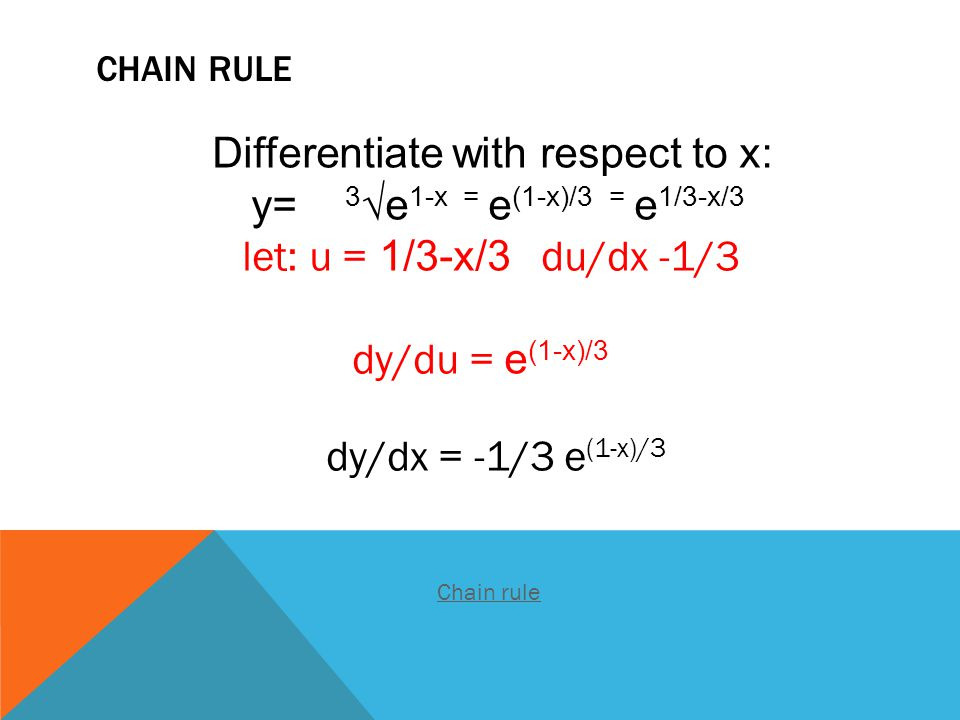 Differentiate with respect to x: