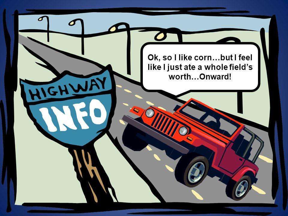 Ok, so I like corn…but I feel like I just ate a whole field's worth…Onward!
