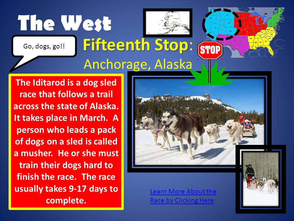 The West Fifteenth Stop: Anchorage, Alaska