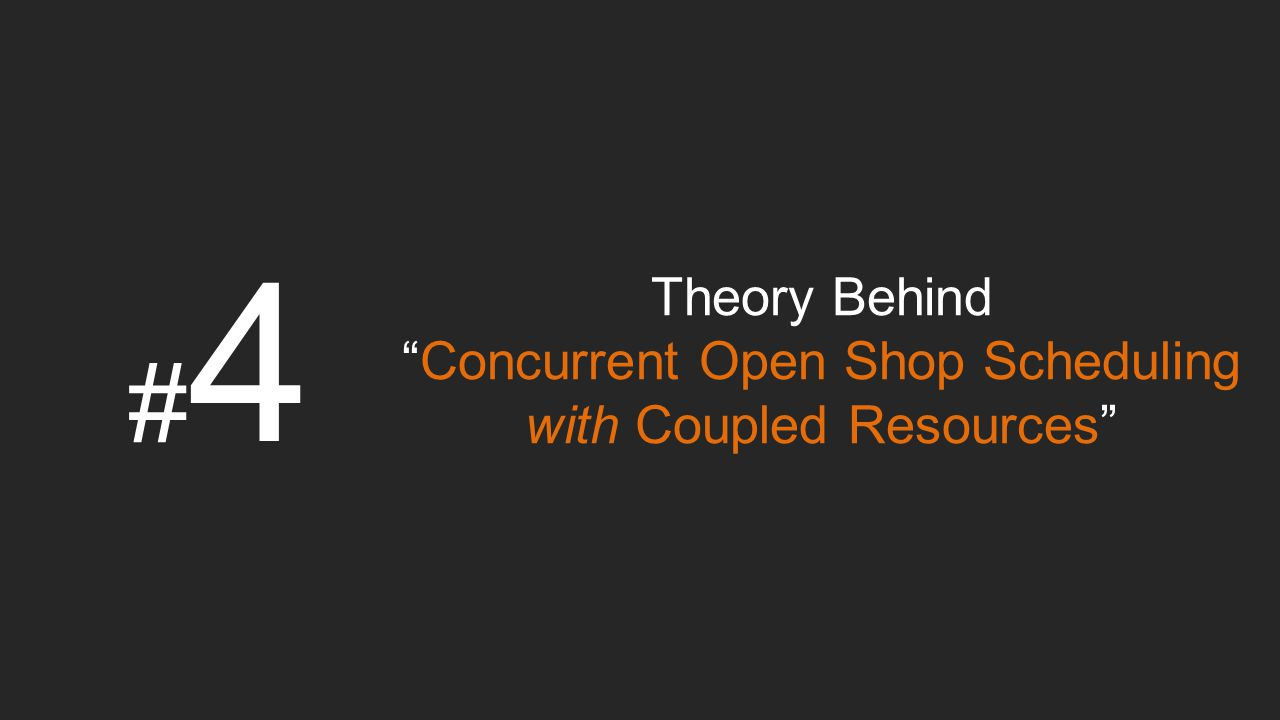Concurrent Open Shop Scheduling with Coupled Resources