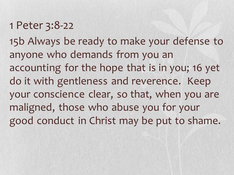 1 Peter 3:8-22
