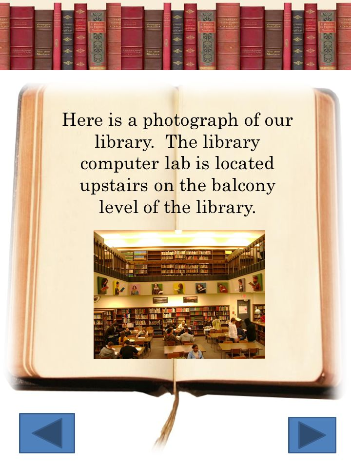 Here is a photograph of our library