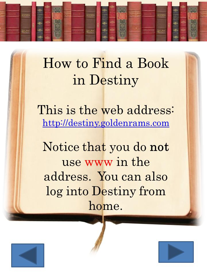 How to Find a Book in Destiny