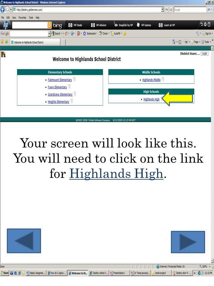 Your screen will look like this