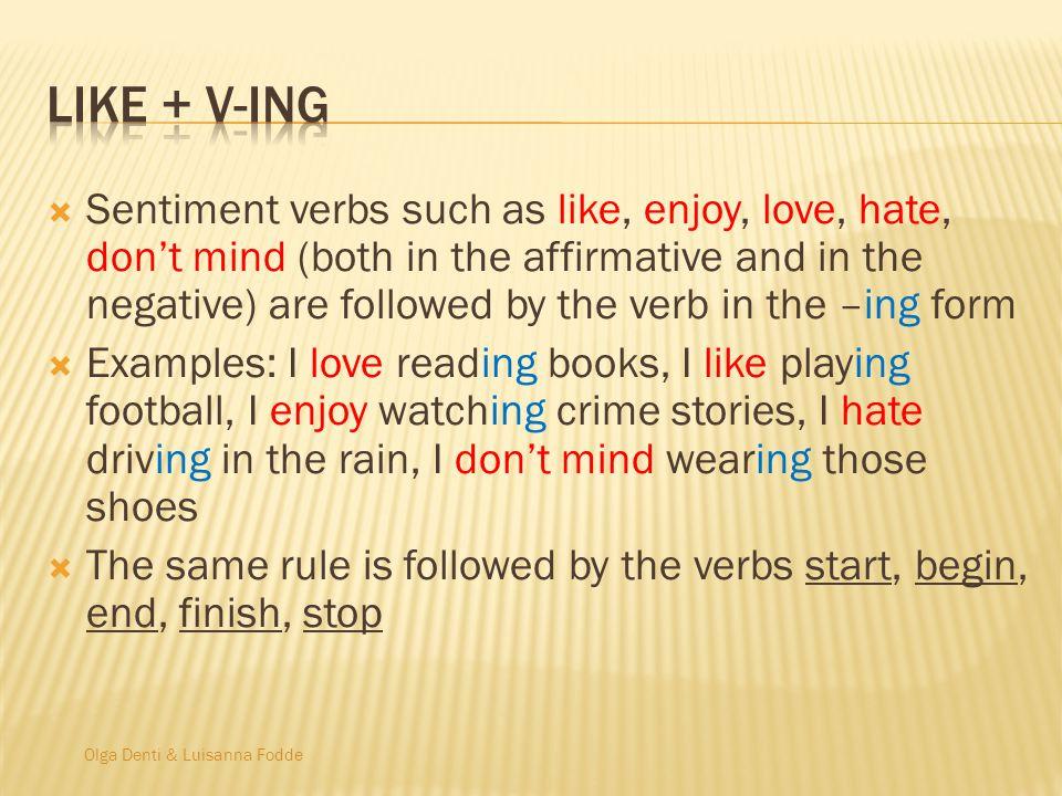 Like + v-ing