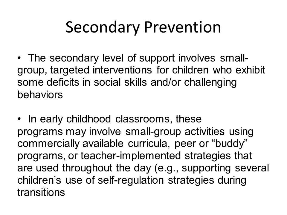 Secondary Prevention