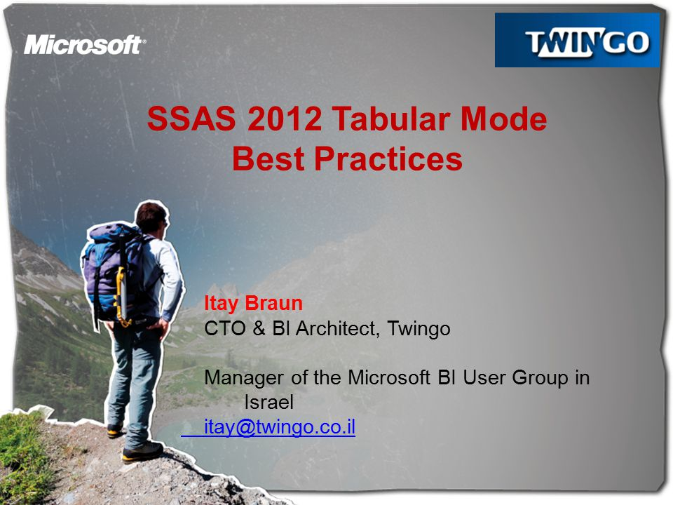 SSAS 2012 Tabular Mode Best Practices