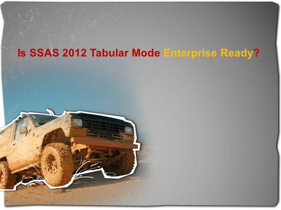 Is SSAS 2012 Tabular Mode Enterprise Ready