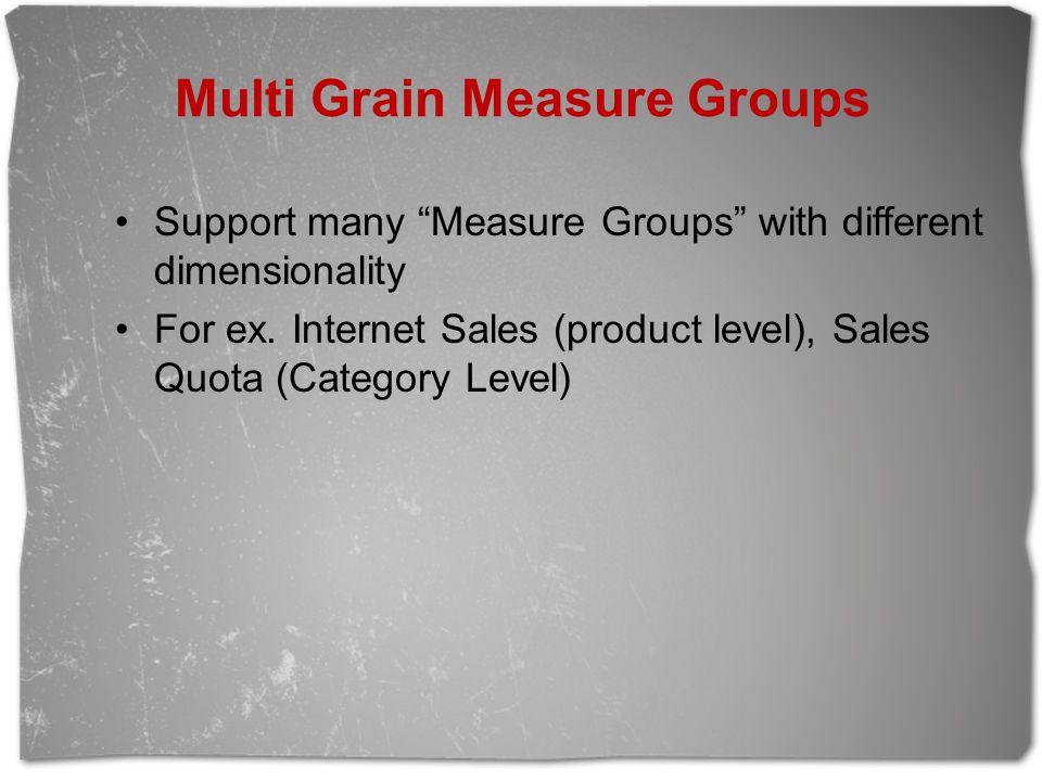 Multi Grain Measure Groups