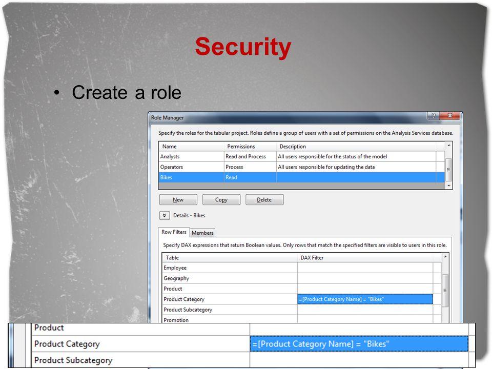 Security Create a role