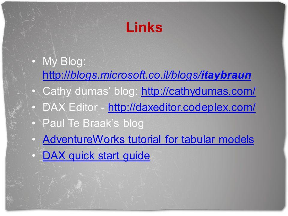 Links My Blog: http://blogs.microsoft.co.il/blogs/itaybraun