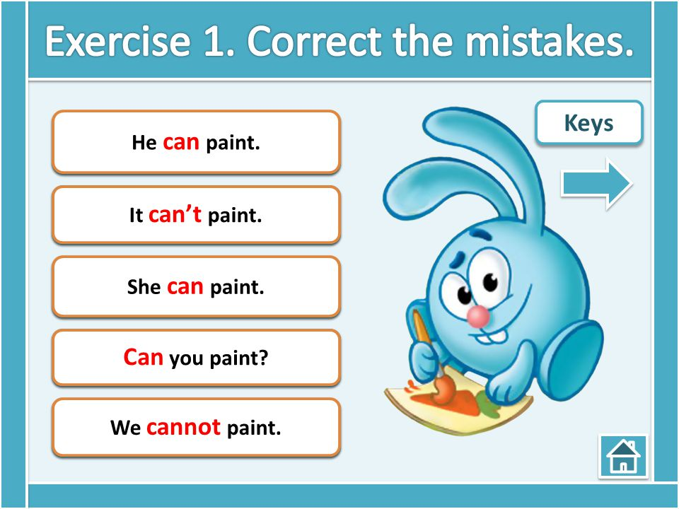 Exercise 1. Correct the mistakes.