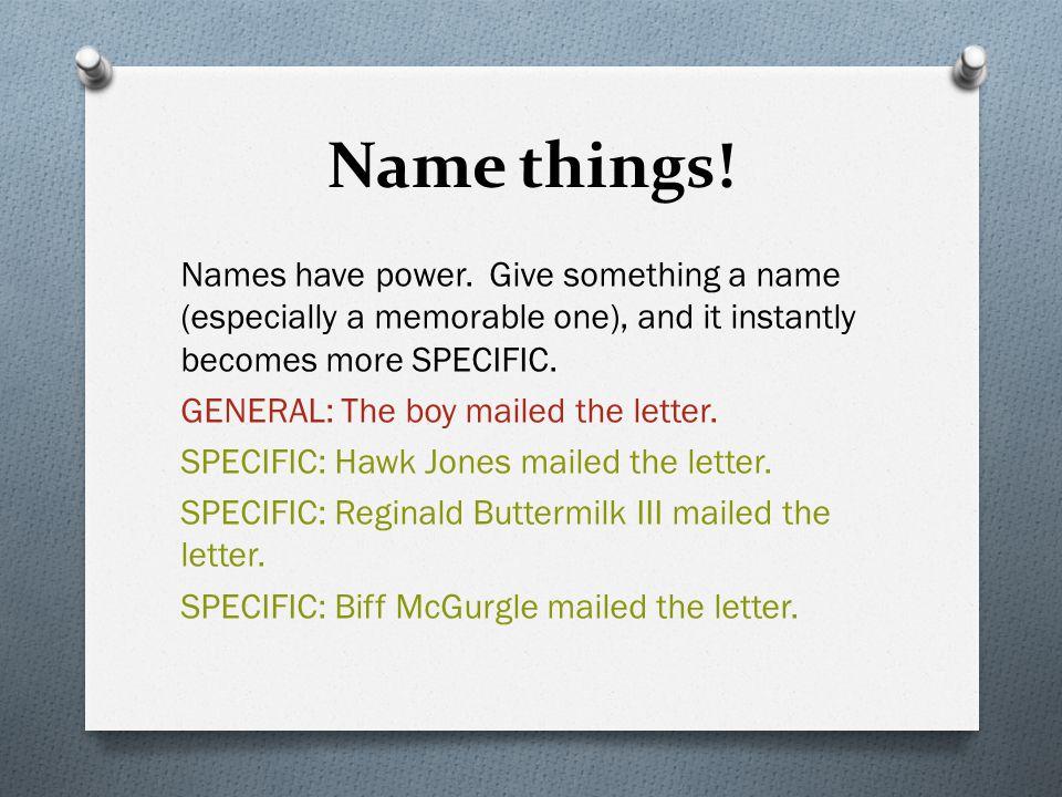 Name things!