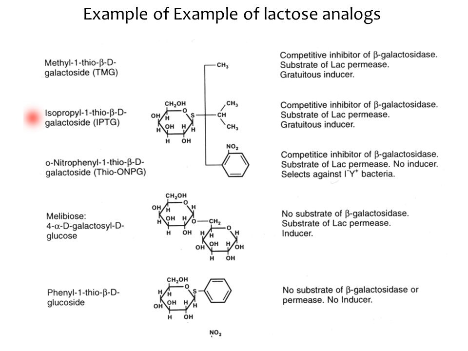 Example of Example of lactose analogs