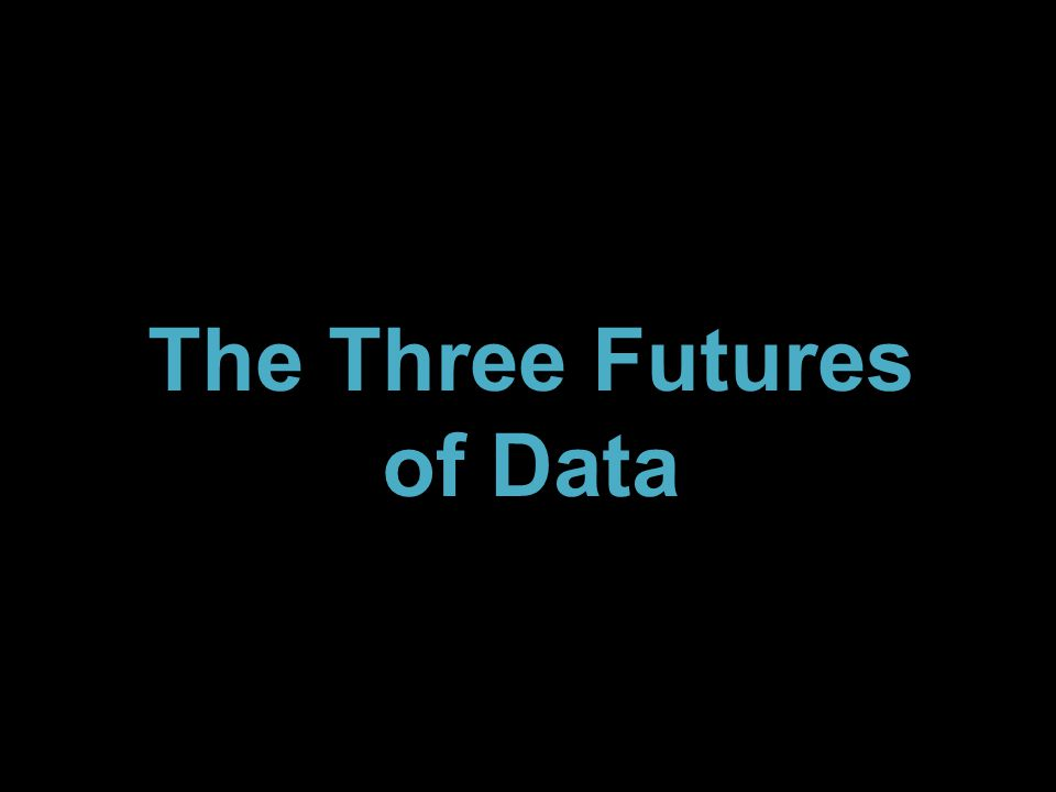 The Three Futures of Data