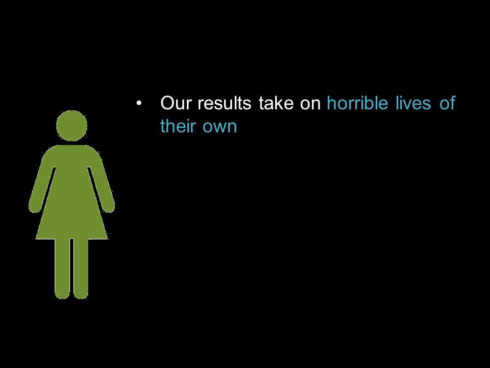 Our results take on horrible lives of their own